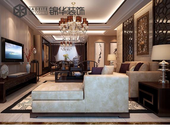龙商天骄—现代中式装修-三室两厅-新中式