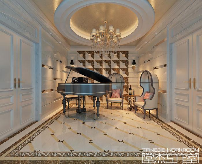 岸新都350平后现代风格实景样板间装修 别墅图片大全 现代简约风格