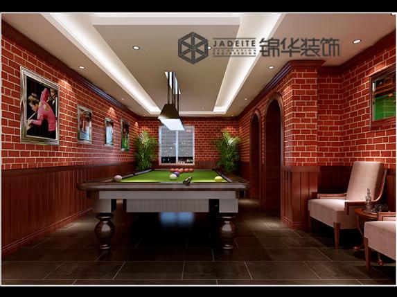 欧式别墅台球室真实照片