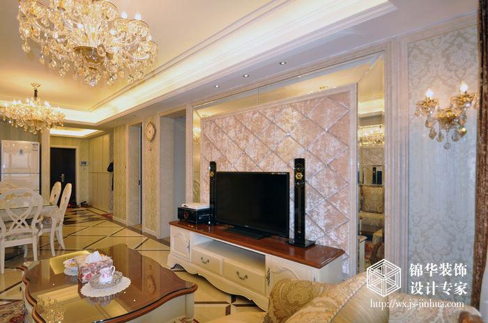 金太湖103平简欧风格实景样板间装修-两室两厅-简欧