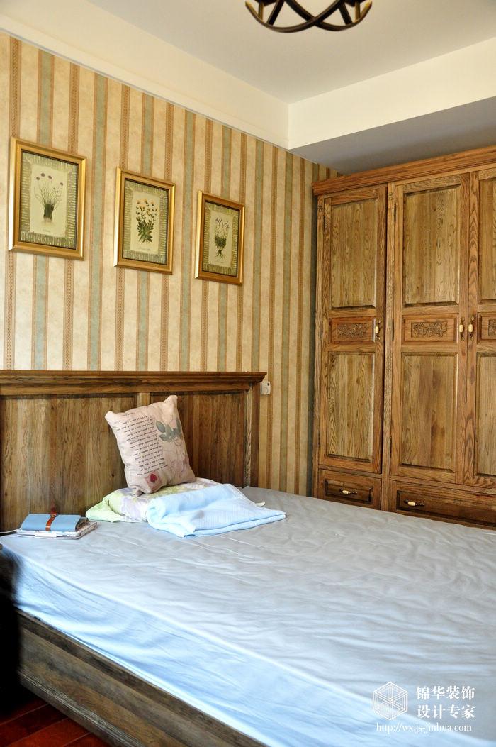 西水东160平三室两厅两卫美式风格实景样板间装修-三室两厅-美式田园