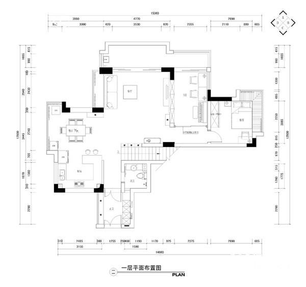 栖园—韩国人在南京装修-跃层复式-现代简约
