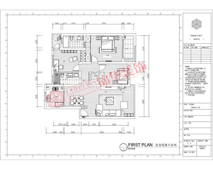 三室两厅装修效果图 现代简约风格 无锡锦华装饰