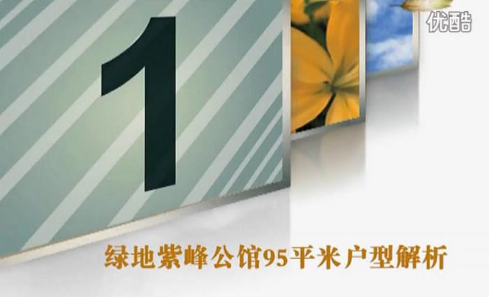 绿地紫峰公馆C户型95平米