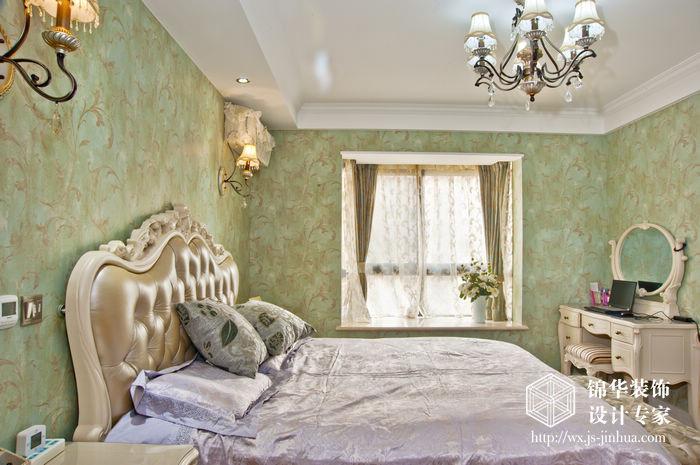 华夏泉绅112平三室两厅两卫美式风格实景图装修-三室