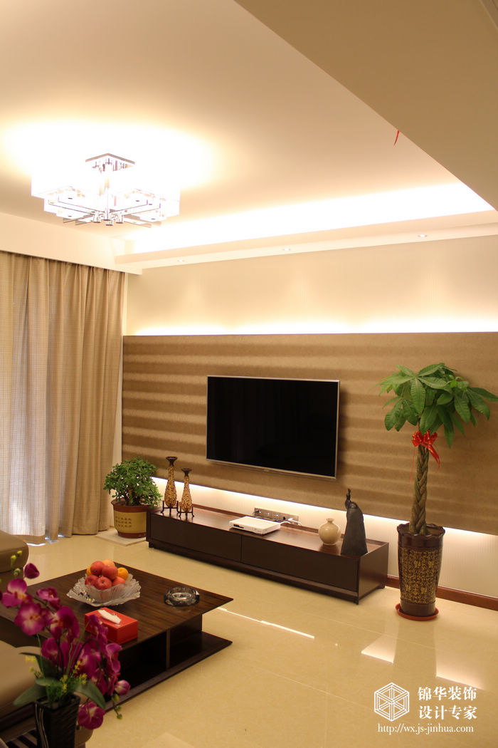 尚东区133平三室两厅两卫新中式风格实景样板间