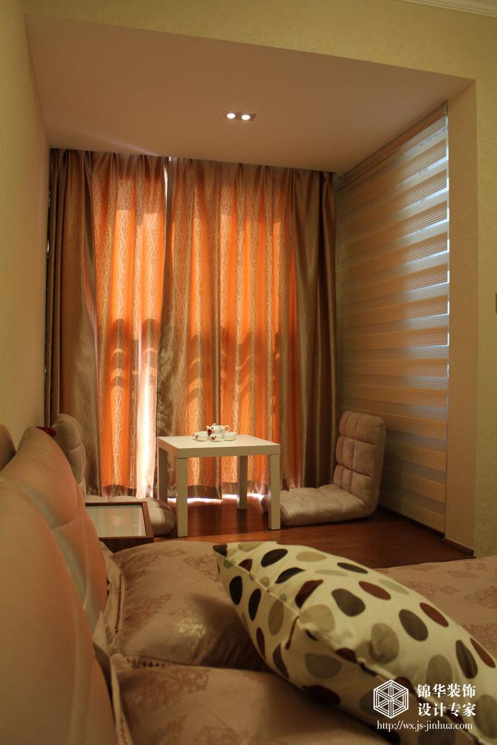 新中式风格实景样板间装修 三室两厅装修效果图 新中式风格