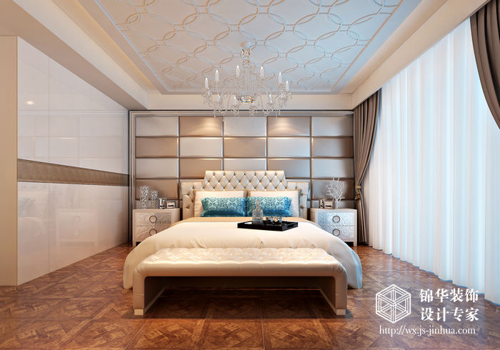 西水东198平米后现代奢华效果图装修-大户型-新古典