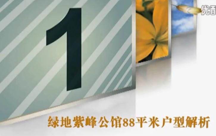 绿地紫峰公馆G户型88平米户型分析
