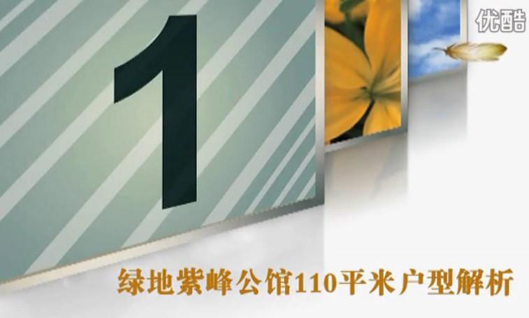 绿地紫峰公馆I户型110平米户型分析