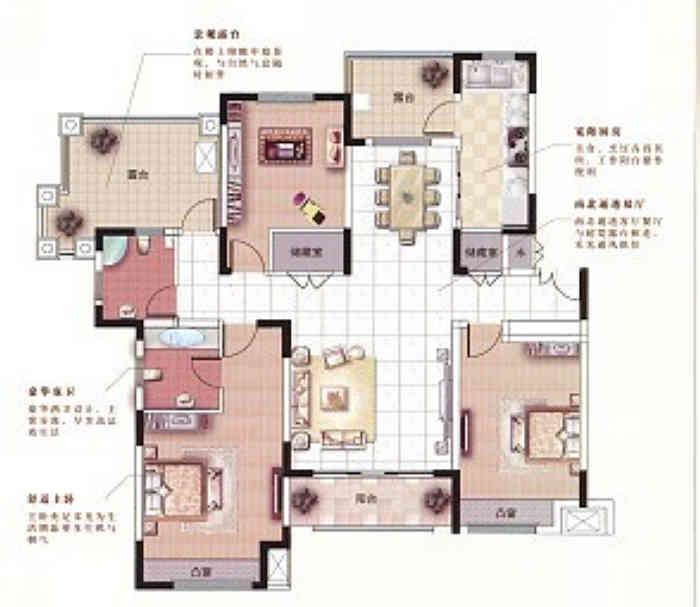 中星湖滨137.7平现代简约风格户型解析