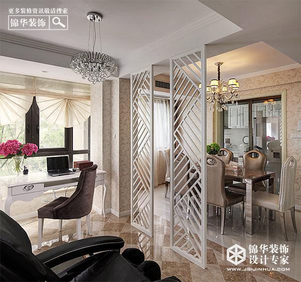 写意粉彩-中海凤凰熙岸装修-三室两厅-新古典