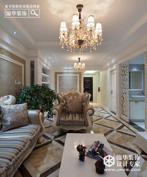 瑰丽-中海凯旋门装修-两室一厅-欧式古典