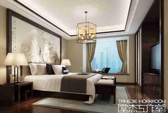 天元世家205平新中式风格户型解析装修-别墅-新中式