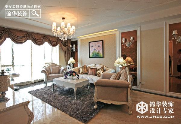 江畔月光 明发滨江新城装修 两室两厅装修效果图 简欧风格