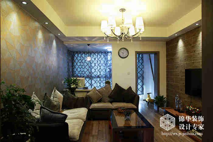 奥林匹克花园115平现代简约风格实景样板间装修-两室两厅-现代简约
