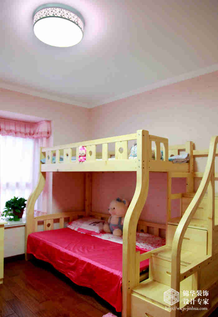 华夏泉绅115平简欧风格三室两厅实景样板间装修-三室两厅-简欧