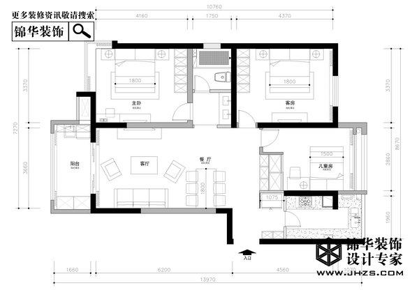 携手-揽月山庄装修-三室两厅-欧式古典