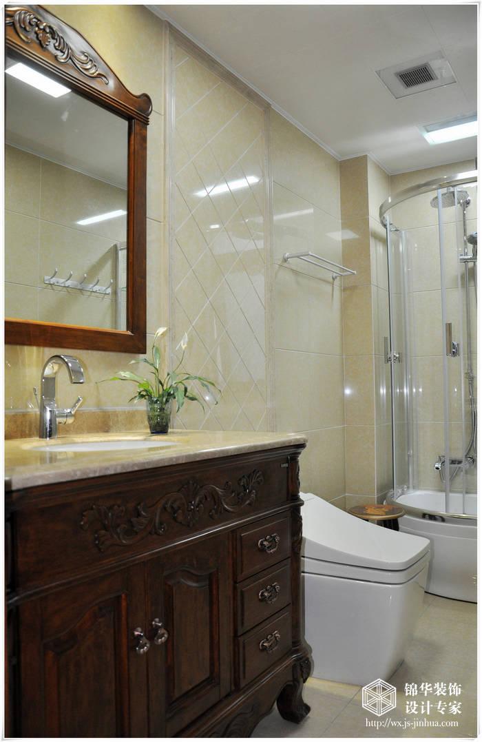 米欧式风格实景样板房装修 大户型 简欧风格 无锡锦华装饰
