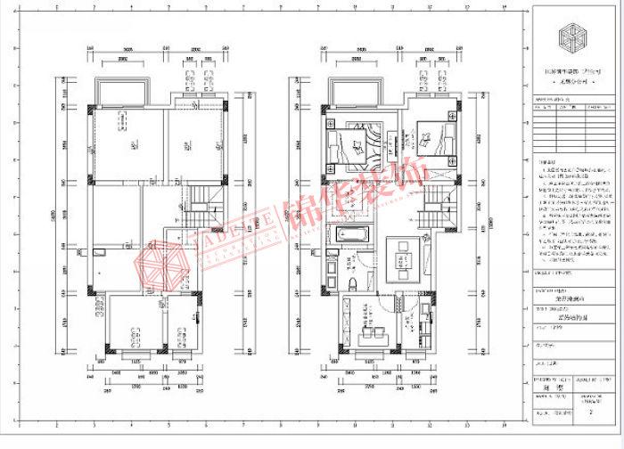 龙湖滟澜山250平新中式风格效果图装修-大户型-新中式