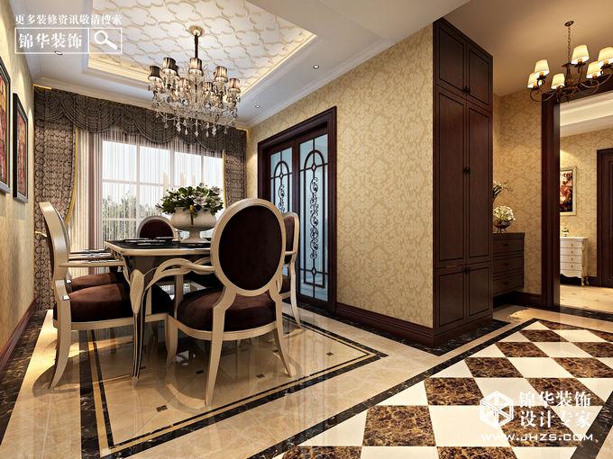 水韵天成装修-三室两厅装修效果图-欧式古典风格