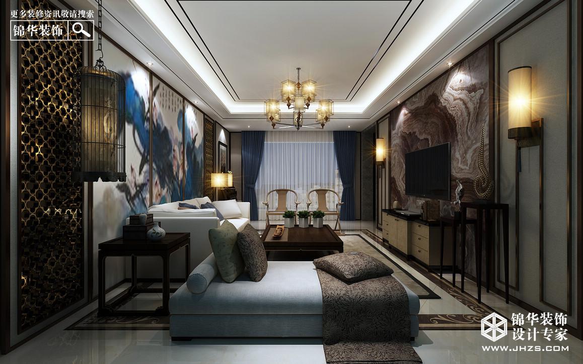 融侨别墅装修-三室两厅-新中式-淮安锦华装饰
