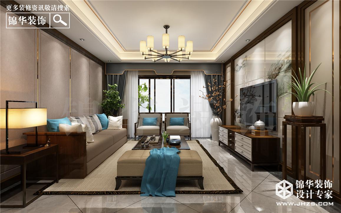 建华观园装修-三室两厅-新中式