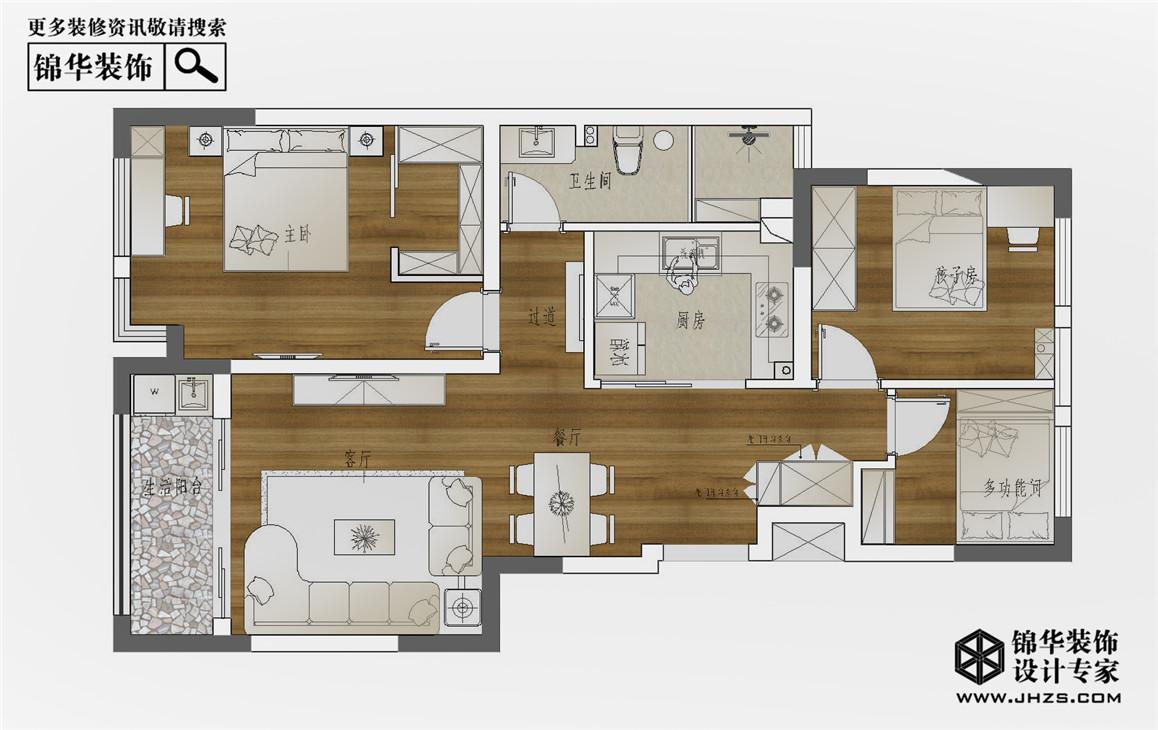 时光机装修-三室两厅-北欧