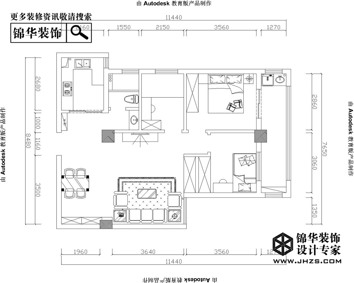 颐高广场装修-三室两厅-美式田园