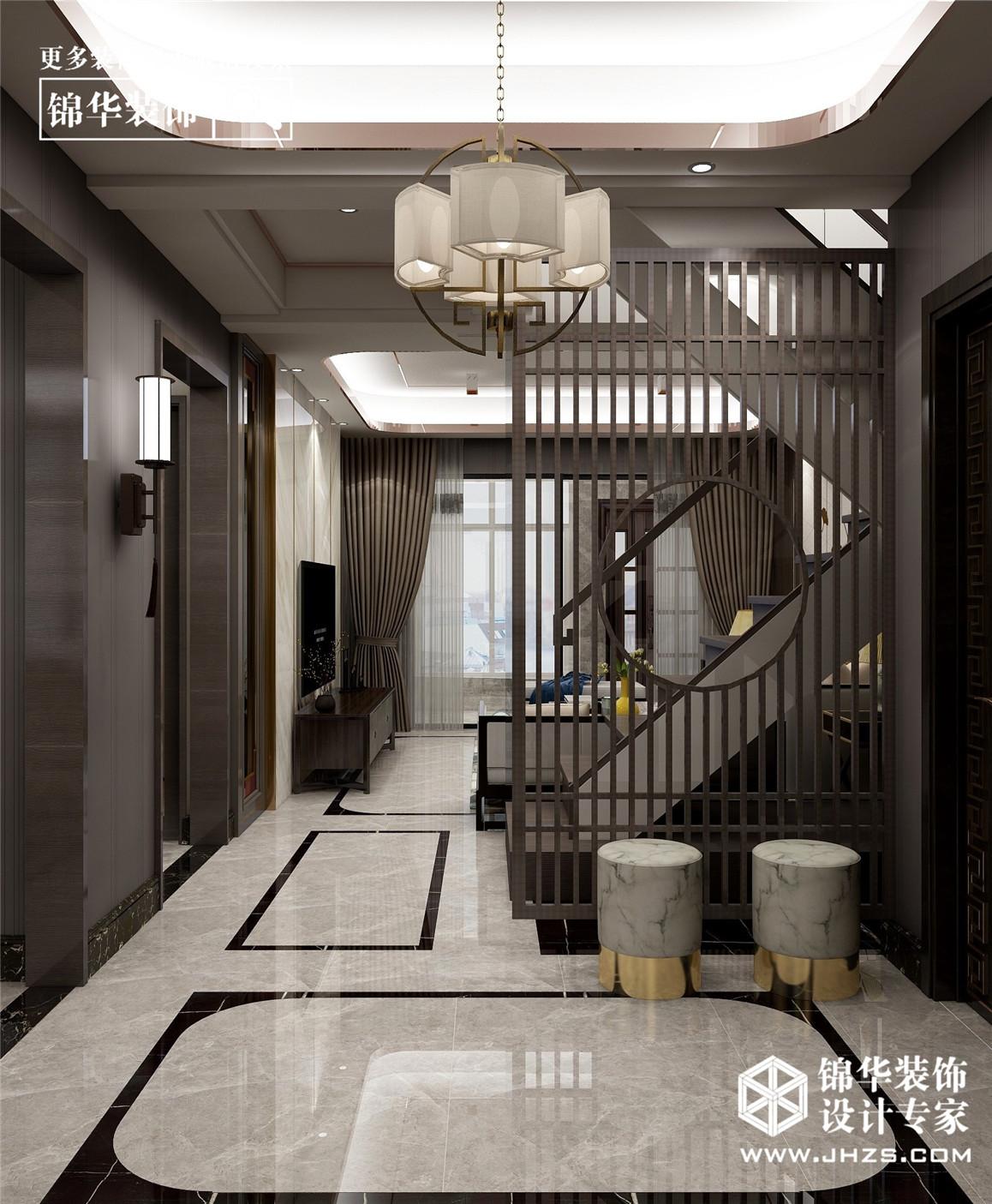 新中式-中南世纪城玺园-270㎡-别墅装修-别墅-新中式