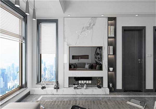 现代简约-香格里拉-112㎡-三室两厅