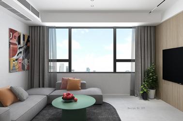 现代简约-河畔花城-三室一厅