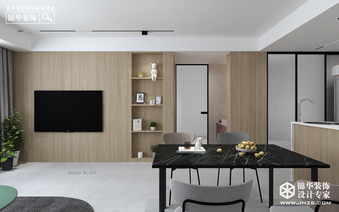 现代简约-河畔花城-三室一厅装修-三室一厅-现代简约