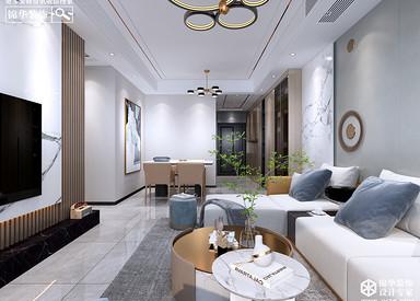 现代简约-吾悦首府-120㎡-三室两厅