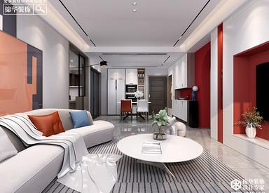 现代简约-鑫景湾-115㎡-三室两厅