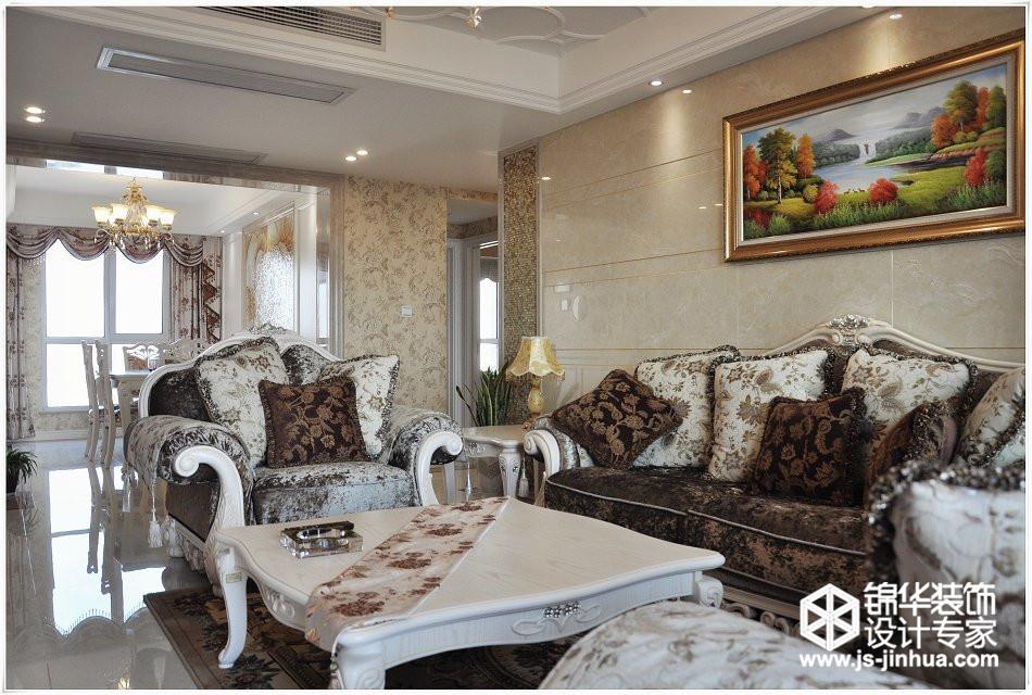 敔山湾花园洋房135平简欧风格效果图装修-三室两厅