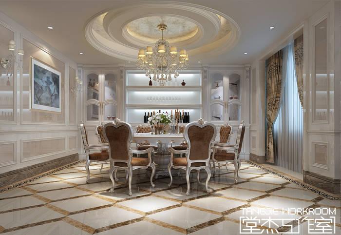 美式奢华风格效果图装修-别墅图片大全-欧式古典风格