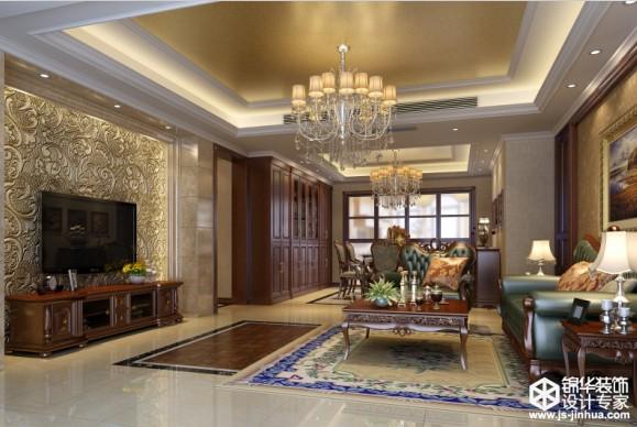 水岸新都三房两厅155平米简欧风格效果图装修-三室