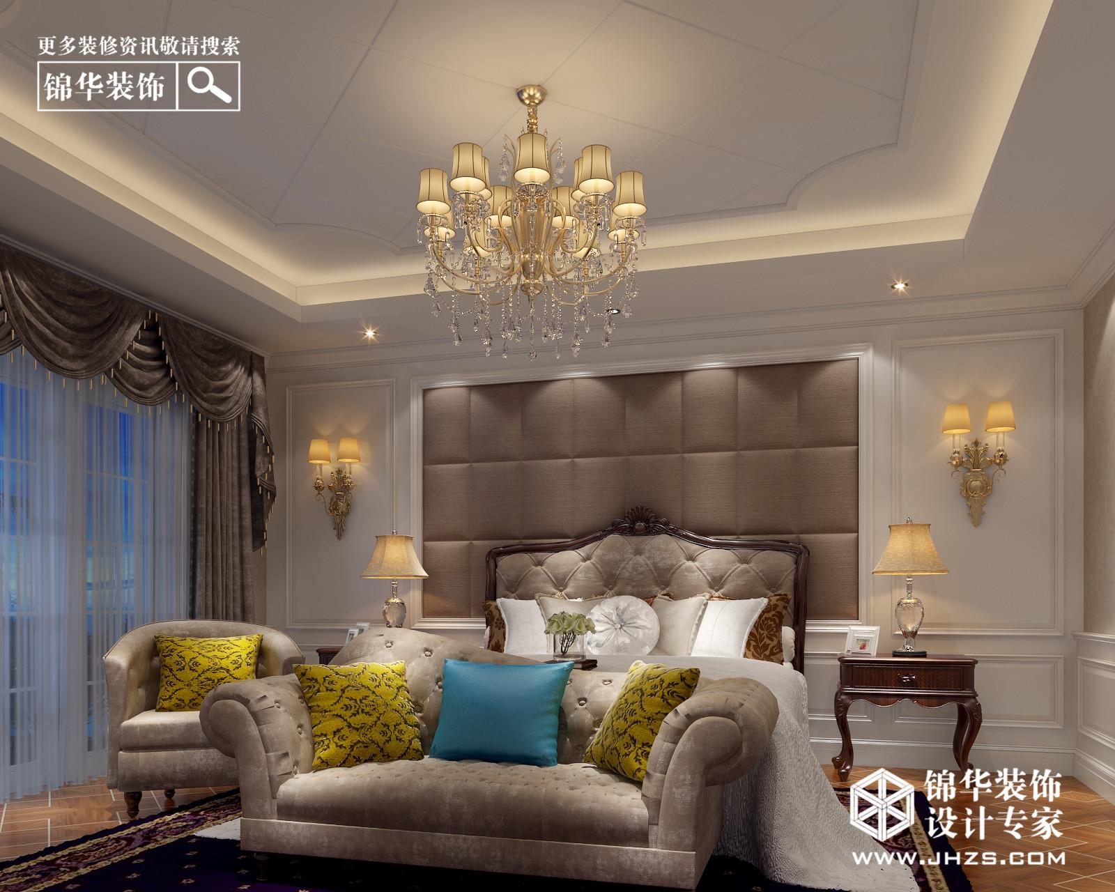 东方华府联排别墅340平方美式风格效果图装修-别墅-欧式古典