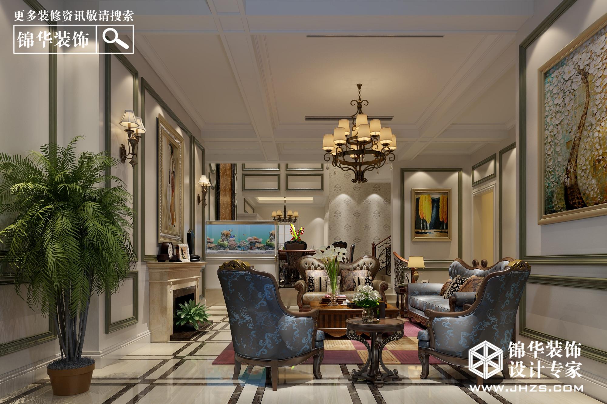 平方美式风格效果图装修-别墅图片大全-欧式古典风格