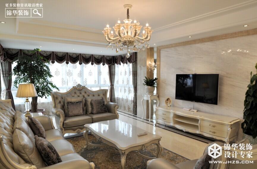 素色淡雅之家-御水湾装修-三室两厅-欧式古典