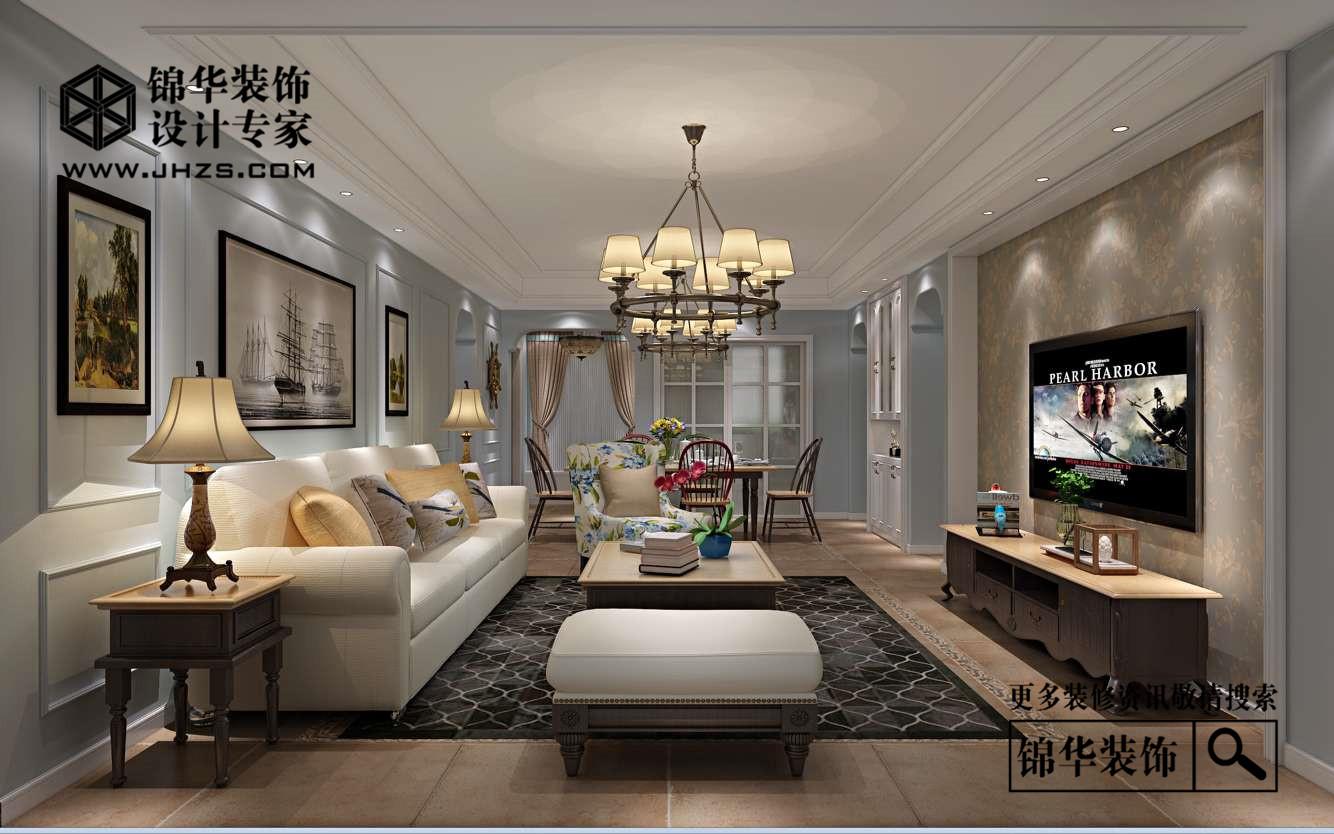 江阴院子140平H户型美式风格效果图