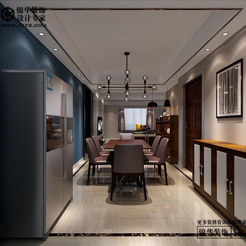 运河世家140平极简效果图装修-三室两厅-简欧-江阴