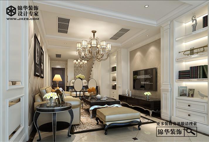 西水东160平简欧效果图装修-三室两厅-简欧