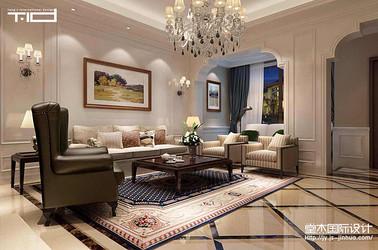屿山湾花园洋房280平美式风格效果图