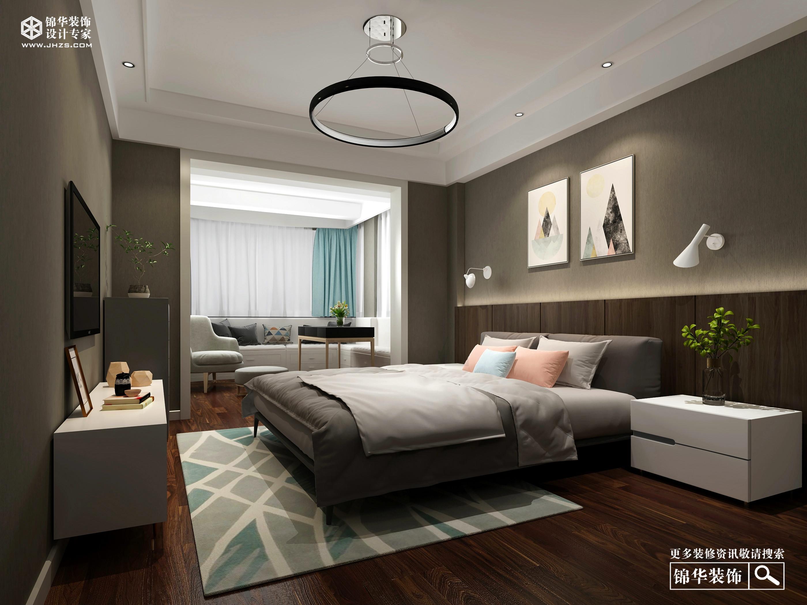 中北新村150平北欧风格效果图装修-三室两厅-北欧