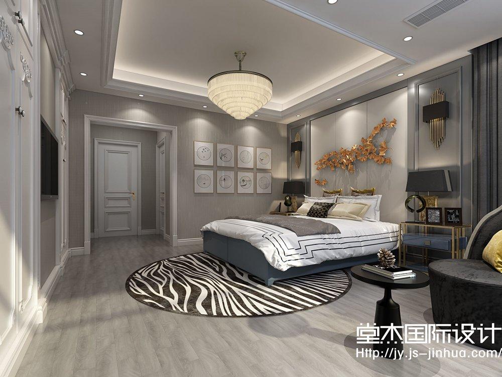 碧桂园320平现代风格效果图装修-别墅-现代简约