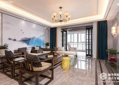 碧桂园187平新中式风格实景图