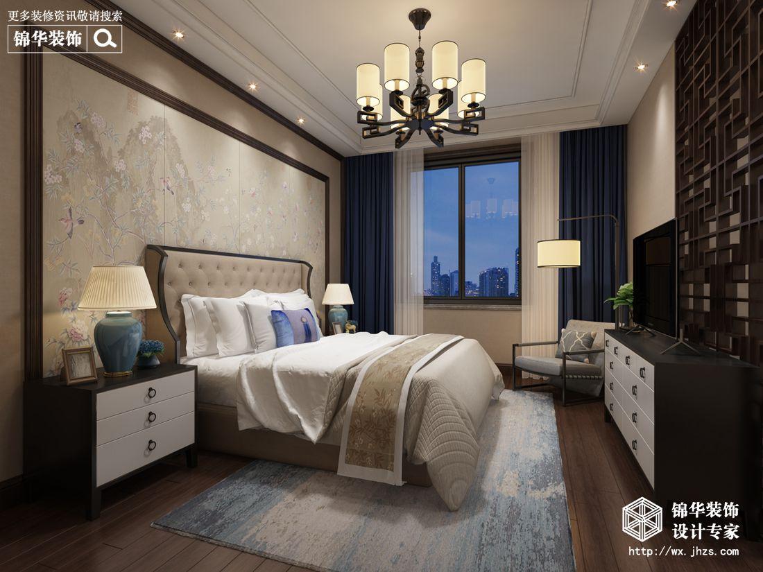 城南世纪城320平新中式风格效果图装修-别墅-新中式