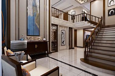阳光国际洋房260平新中式风格效果图